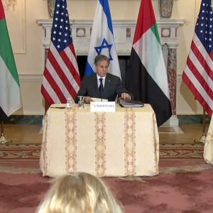 Blinken Holds Press Briefing With Israeli Foreign Minister And UAE Foreign Minister