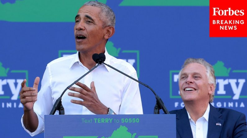 Obama Stumps For Terry McAuliffe With Virginia's Election Two Weeks Away