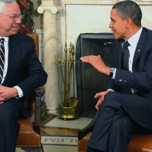 FLASHBACK: Colin Powell Visits With President Obama At The White House In 2010