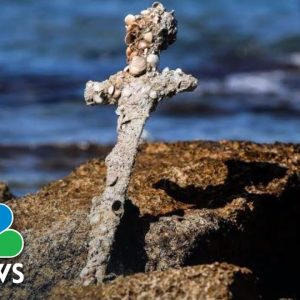 Diver Finds Sword, Believed To Be 900-Years-Old From The Crusades