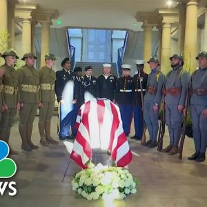 Ceremony Marks 100th Anniversary Of Arlington's Tomb Of The Unknown Soldier
