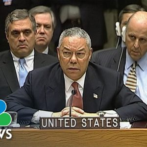 From 2003: Colin Powell Addresses United Nations Security Council On Iraq