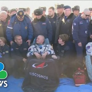 Russian Film Stars Land Back On Earth After 12 Days In Space