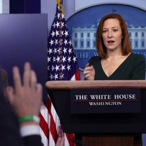 Jen Psaki Holds Press Briefing As Dems Try To Finish Budget Framework By End Of Week